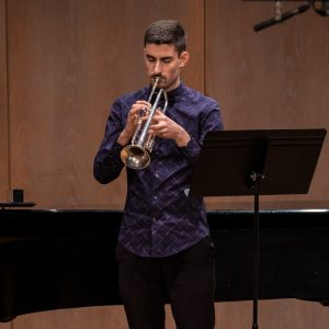 Evan Overman is the Intermediate Brass winner at the Greater Victoria Performing Arts Festival.